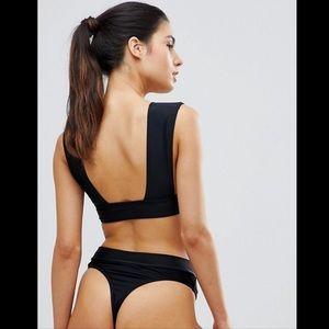 Missguided Black Thong Bikini Bottom